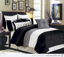 Black and white bedding sets ideas 26