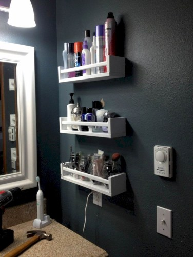 Cool organizing storage bathroom ideas (16)