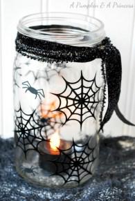 Creative diy halloween decorations using spider web 42