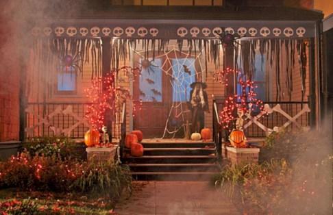 Creative diy halloween decorations using spider web 48