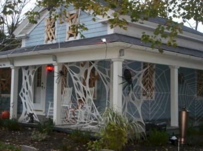 Creative diy halloween decorations using spider web 51