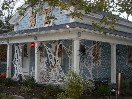 Creative diy halloween decorations using spider web 51
