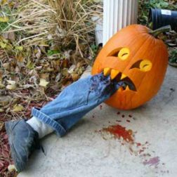 Creative diy halloween outdoor decoration ideas 16