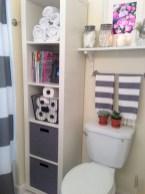 Creative storage bathroom ideas for space saving (24)
