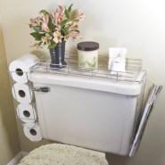 Creative storage bathroom ideas for space saving (31)