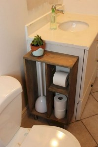 Creative storage bathroom ideas for space saving (5)