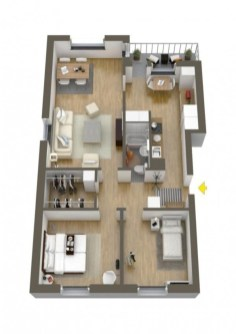 Creative two bedroom apartment plans ideas 42
