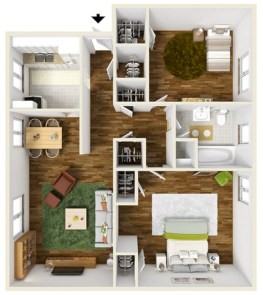 Creative two bedroom apartment plans ideas 53