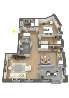 Creative two bedroom apartment plans ideas 55