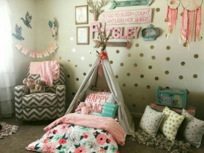 Cute baby girl bedroom decoration ideas 17