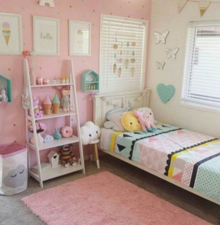 Cute baby girl bedroom decoration ideas 19
