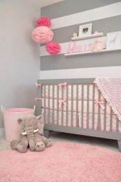 Cute baby girl bedroom decoration ideas 30
