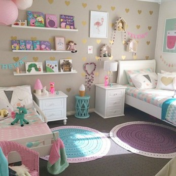 Cute baby girl bedroom decoration ideas 34