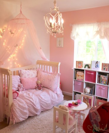 Cute baby girl bedroom decoration ideas 35