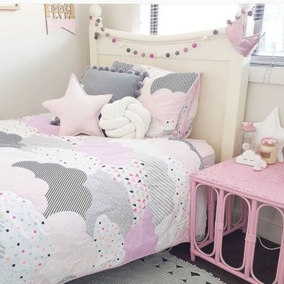 Cute baby girl bedroom decoration ideas 40