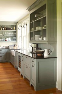 Decorate awesome kitchen with farmhouse cabinet (31)