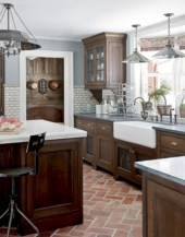 Decorate awesome kitchen with farmhouse cabinet (49)