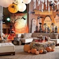 Elegant halloween living room decoration ideas 02