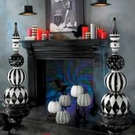 Elegant halloween living room decoration ideas 44