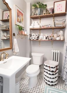 Farmhouse bathroom ideas for small space (18)