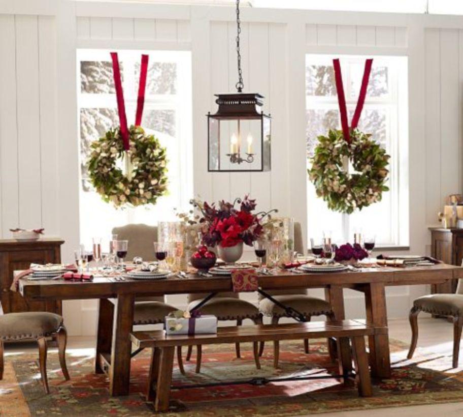 54 Gorgeous Rustic Christmas Table Settings Ideas & Christmas Table Setting Ideas Archives - Round Decor