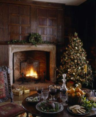 54 Gorgeous Rustic Christmas Table Settings Ideas - Round Decor
