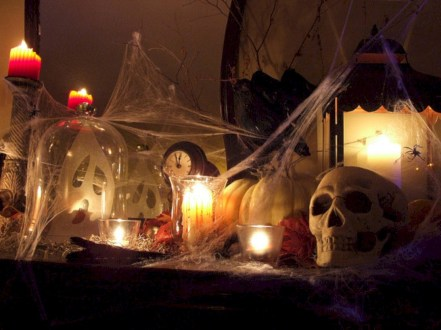 Great halloween mantel decorating ideas 01