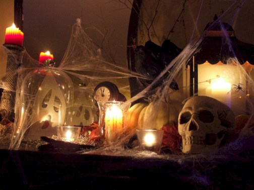 Great halloween mantel decorating ideas 01