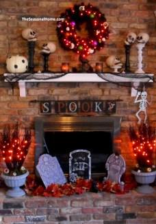 Great halloween mantel decorating ideas 05