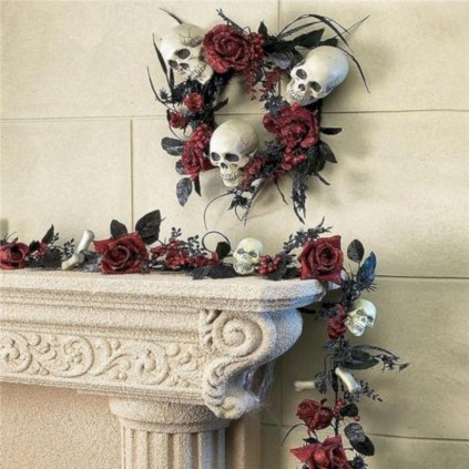Great halloween mantel decorating ideas 31