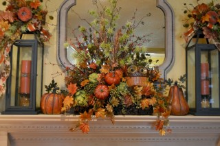 Great halloween mantel decorating ideas 33