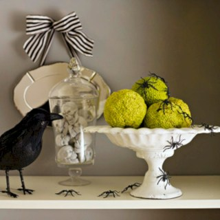 Great halloween mantel decorating ideas 34
