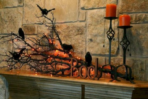 Great halloween mantel decorating ideas 40