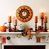 Great halloween mantel decorating ideas 45