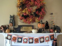 Great halloween mantel decorating ideas 49