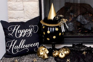 Great halloween mantel decorating ideas 54