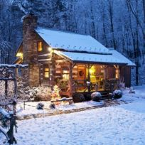 Ideas how to make comfortable rustic outdoor christmas décoration 06