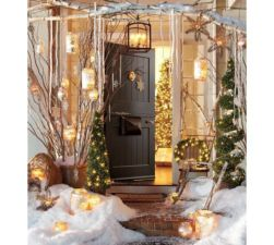Ideas how to make comfortable rustic outdoor christmas décoration 08