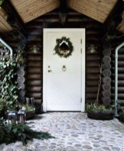 Ideas how to make comfortable rustic outdoor christmas décoration 10