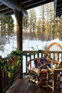 Ideas how to make comfortable rustic outdoor christmas décoration 21