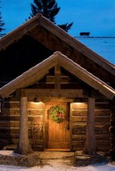 Ideas how to make comfortable rustic outdoor christmas décoration 53
