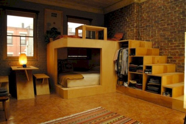Industrial bedroom designs ideas for small spaces 52