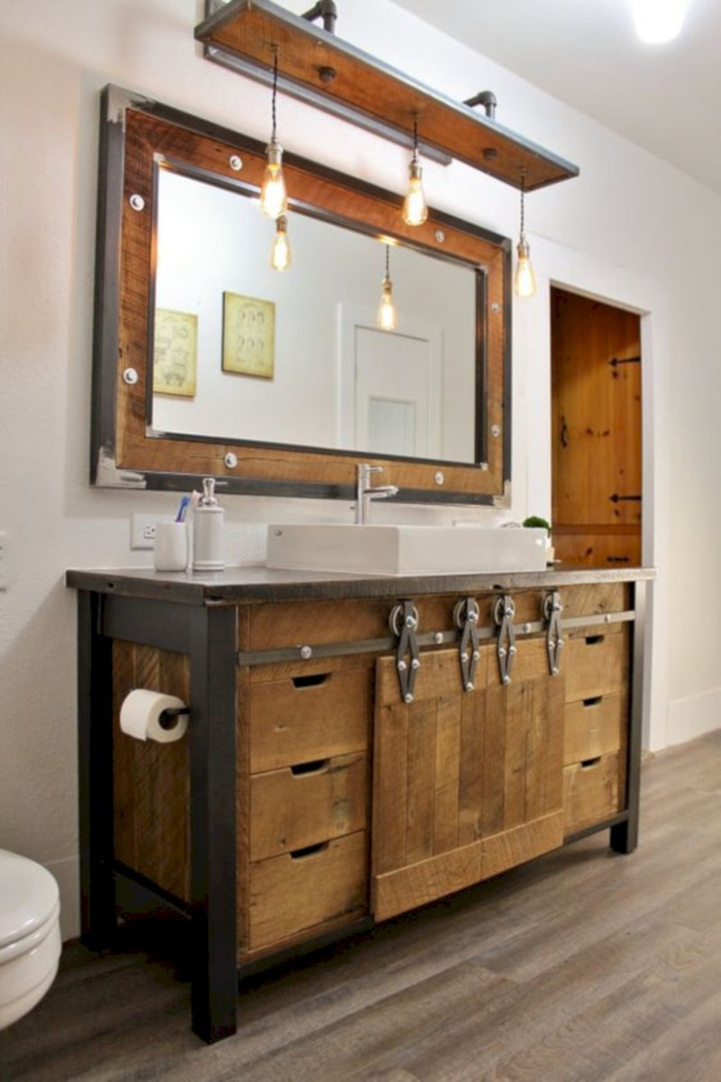 Industrial vintage bathroom ideas (17)