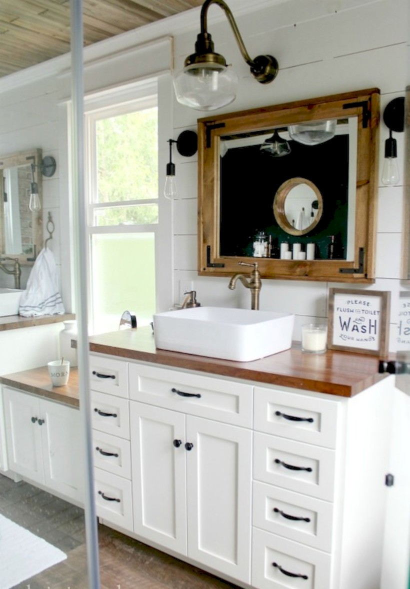 Industrial vintage bathroom ideas (21)