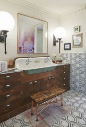 Industrial vintage bathroom ideas (31)