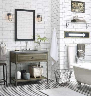 Industrial vintage bathroom ideas (35)