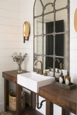 Industrial vintage bathroom ideas (36)