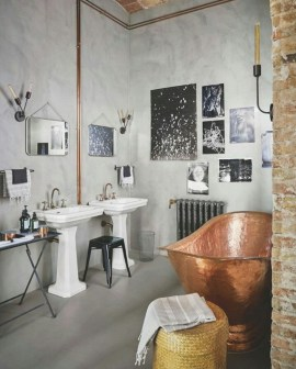 Industrial vintage bathroom ideas (48)