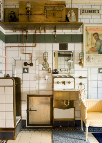 Industrial vintage bathroom ideas (62)
