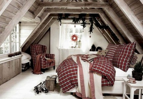 Inspiring christmas bedroom décoration ideas 22